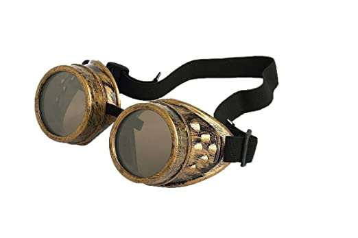 Men's Steampunk Goggles, Guns, Gadgets & Watches  Vintage Steampunk Goggles Glasses Welding Cyber Punk Gothic $7.99 AT vintagedancer.com