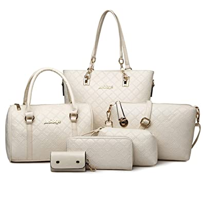 80d9761717 ZARA WOMEN`S COMBO OF 6 BEIGE CROSS: Handbags: Amazon.com