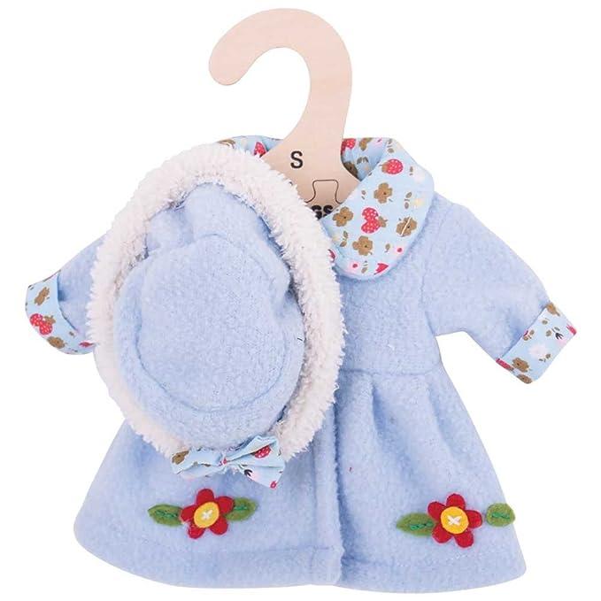 Bigjigs Toys Chapeau et manteau bleus (pour une poupée de 28cm)