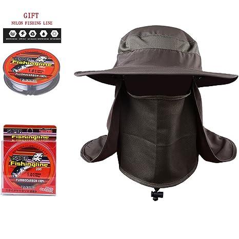 5e2695e6a90f7 Amazon.com   Handfly Fishing Sun Boonie Hat Summer UV Protection Safari Cap  Outdoor Hunting Hat   Sports   Outdoors