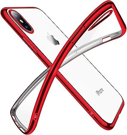 jaligel Cover per iPhone XS e iPhone X, Custodia in Silicone TPU Flessibile Assorbimento degli Urti Anti-Graffio Cover Sottile e Trasparente per ...