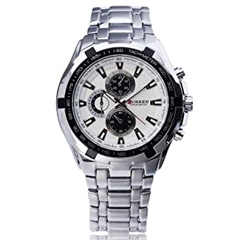 99100b403a1b65 Image Unavailable. Image not available for. Color: Curren Watches Men  Quartz Top Brand Analog Military Male Watches Men Sports Army Watch  Waterproof