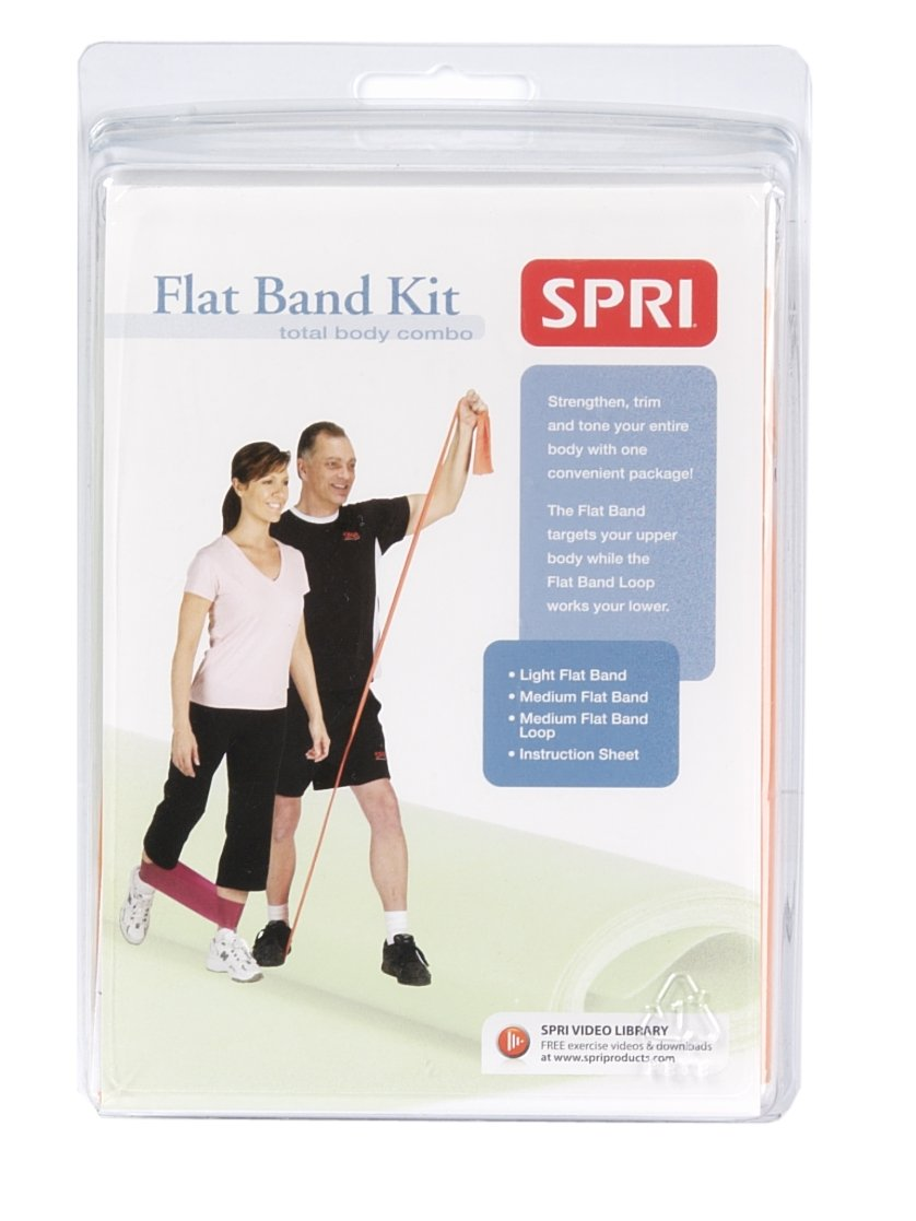 SPRI ABC-R2 Adjustable Exercise Band Body Conditioning Kit
