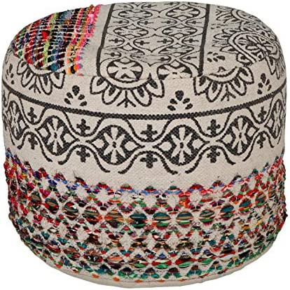 LR Home Recycled Neo-Bohemian Pouf