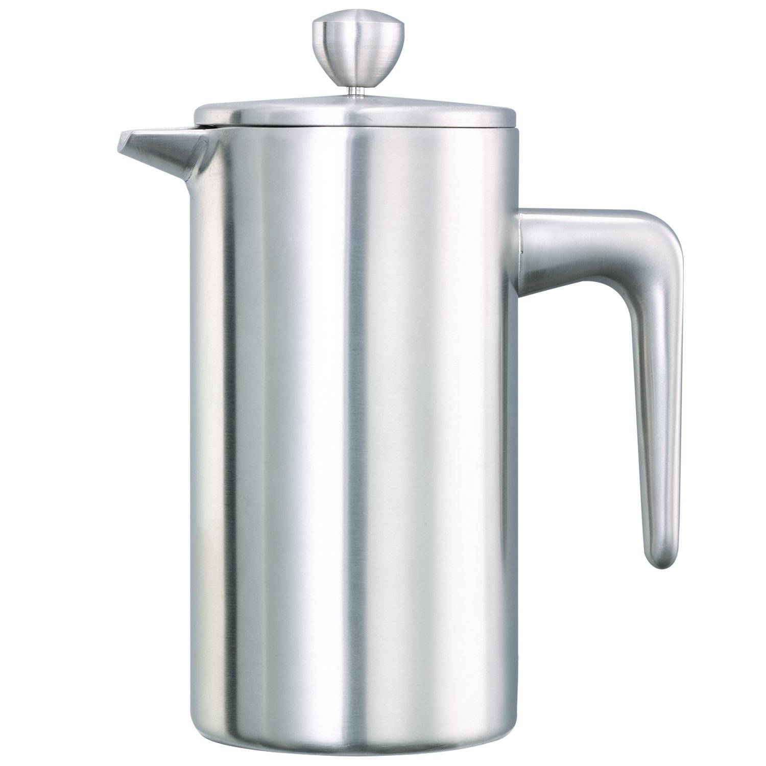 Service Ideas PDWSA350BS Double Wall Coffee Press, Stainless Steel, Brushed, 12 oz.