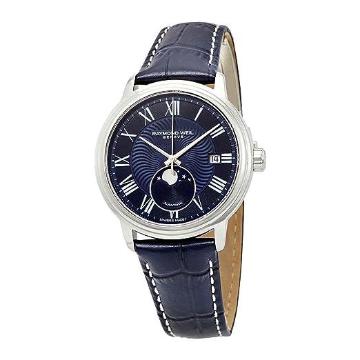 Reloj Automático Raymond Weil Maestro, 40 mm, Día, Fase Lunar, 2239-STC-00509: Amazon.es: Relojes