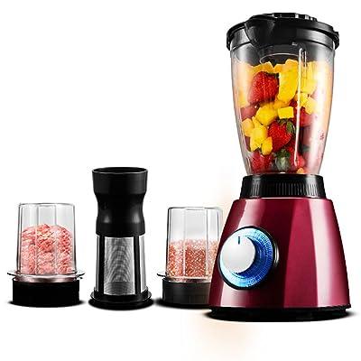 1600ml mélangeur multi-mélange Blender 350 watts, mélangeur commercial Power, argent / rouge ( Couleur : Rouge )