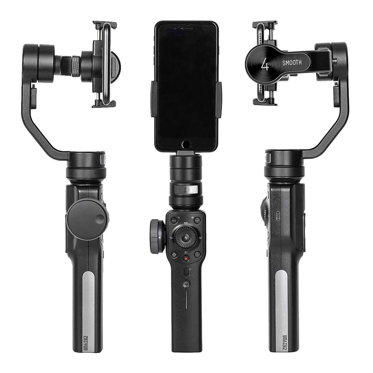 Gopro Adapter//Charging Cable//Counterweight Included Zhiyun Smooth 4 3-Axis Handheld Gimbal Stabilizer Compatible FiLMiC Pro for iPhone Xs Max//Xs//X//8 Plus//7//SE Samsung Galaxy S9+//S8//S7 etc Smartphones