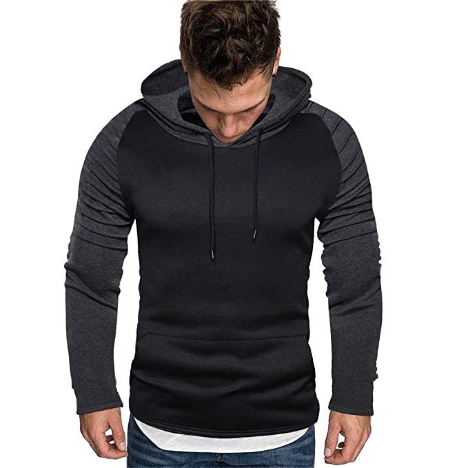 Hoodies for Men Zipper,Vickyleb Mens Long Sleeve Sweatshirt Fashion Zip-up Hoodie Lightweight Jacket Sport Outwear