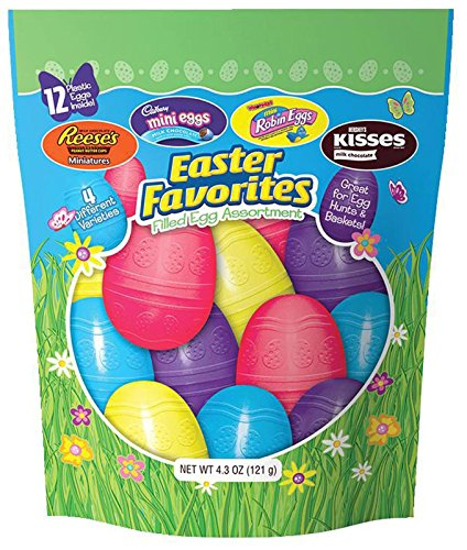 Hershey's Easter Chocolate Filled Plastic Egg Assortment, 4.3 (Hersheys Easter Candy)