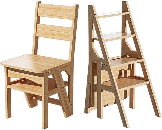YF-Barstool Racks para Plantas Escalera de 4 peldaños para el hogar | Escalera de Tijera Plegable de Madera | Taburetes para pies de Interior | Banco de Zapatos portátil/Estante de Flores: Amazon.es: