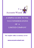A SIMPLE GUIDE TO THE TAX CONSIDERATIONS  OF  A  LIMITED COMPANY (Company Tax Book 1)