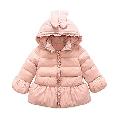 8a00fc9ecc49 Amazon.com  Baby Girls Winter Puffer Down Jacket Kids Ear Warm Coat ...