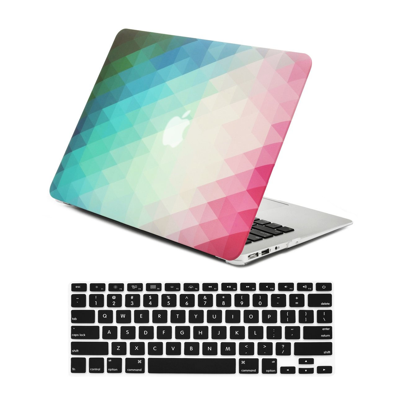 "Unik Case-2 in 1 Matte Hard Case/&Silicone Skin for Macbook 13/"" Air-Purple"