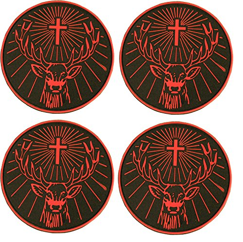 jagermeister-rubber-coasters-set-of-4-black-and-orange