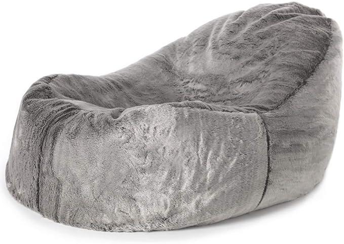Corduroy Living Room Bean Bags Scandi Jumbo Cord Bean Bag 95cm x 85cm Triangle Pyramid Bean Bags icon Boheem Lounger Charcoal Grey