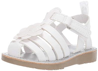 cc3f1fc36af8e Amazon.com   carter's Girls' Evonne Fisherman Dress Sandal, White, 8 ...