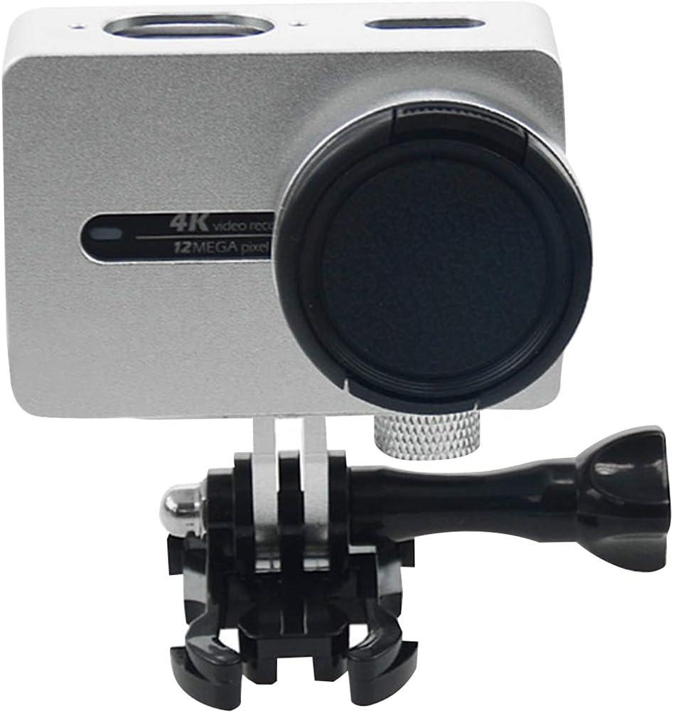 for Xiaomi Xiaoyi Yi II Sport Action Camera Aluminum Alloy Housing Protective Case with Lens Protective Cap Durable Color : Silver