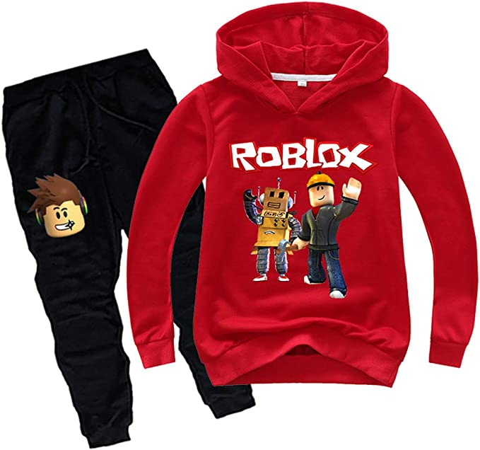 Red Bunny Hoodie Roblox Amazon Co Jp Dream Six Boys And Children 2 Piece Set Roblox Hoodie Game Top Popular School Fashionable Cute Cute Long Sleeve Shirt And Sweatpants Thin Spring And Autumn Clothing Accessories