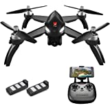 Goolsky MJX Bugs 5W 1080P 5G Wifi FPV Camera GPS Positioning Altitude Hold RC Drone Quadcopter with 2 Batteries