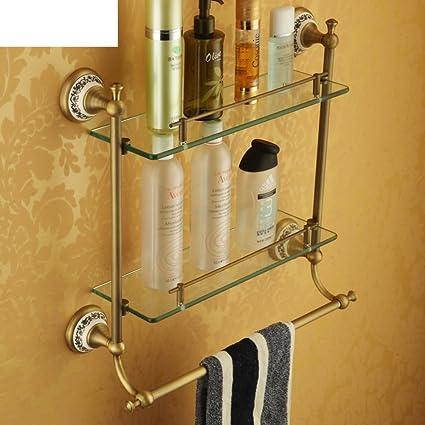 Antique Cosmetics Planes/Glass Shelf Bathroom Stands/Towel Rack ...