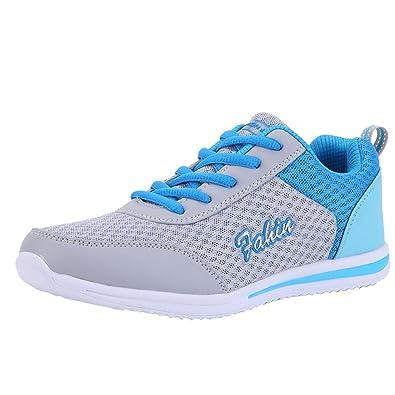 6c7ebe52fe132 GongzhuMM Chaussures Femmes à Lacets de Plein Air Chaussures Fond Plat Sneakers  Baskets pour Dames Chaussures