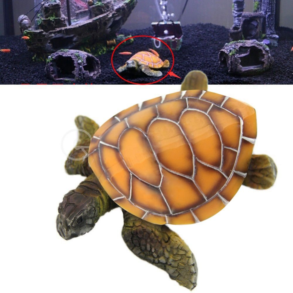 Amazon.com : TOOGOO Aquarium Ornaments Decoration Artificial Turtle Fish Tank Man Made Resin Tortoise Landscaping Decor Aquarium Accessories : Pet Supplies