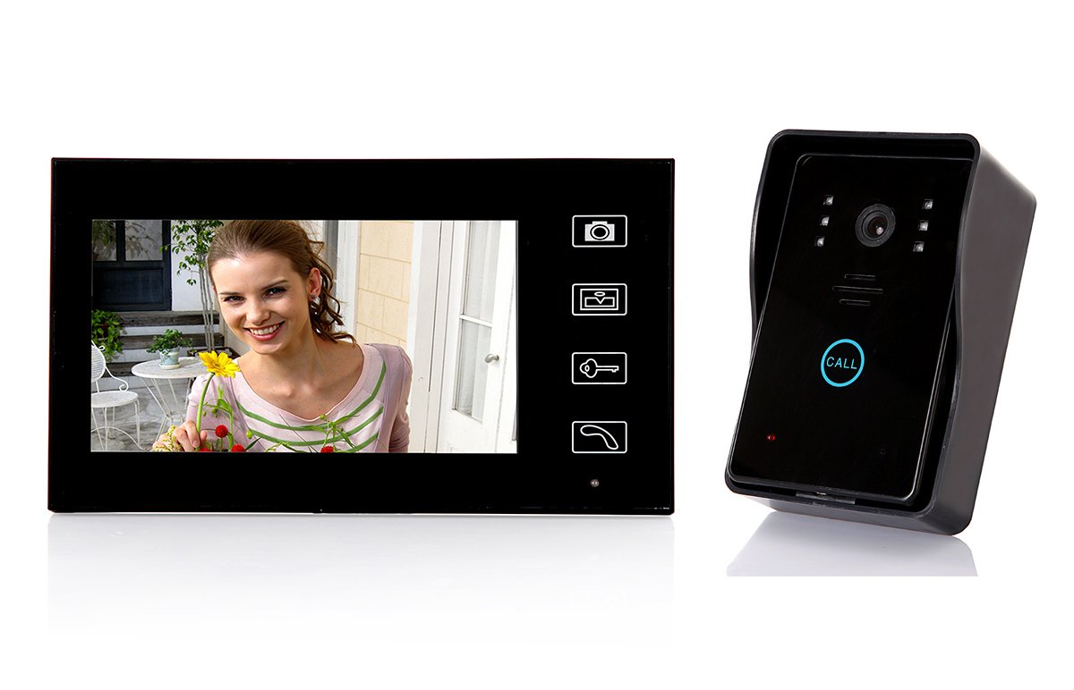 Amazon.com  Dragonpad® 7  TFT Color Display Wired Video Door Phone Doorbell Intercom System Night Vision  Home Security Systems  Camera u0026 Photo  sc 1 st  Amazon.com : video door - pezcame.com