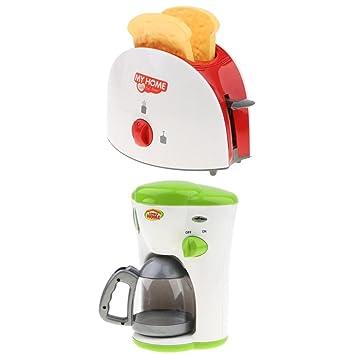 MagiDeal Juguete de Utensilios de Cocina Modelo de Máquina Panificadora Cafetera Realista Regalo para Niños Niñas