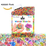 AINOLWAY Water Beads, Crystal Ball Growing Water Gel Beads for Kids Sensory Game Playing, Orbeez refill, Vase Filler 9OZ (Over 40,000pcs)