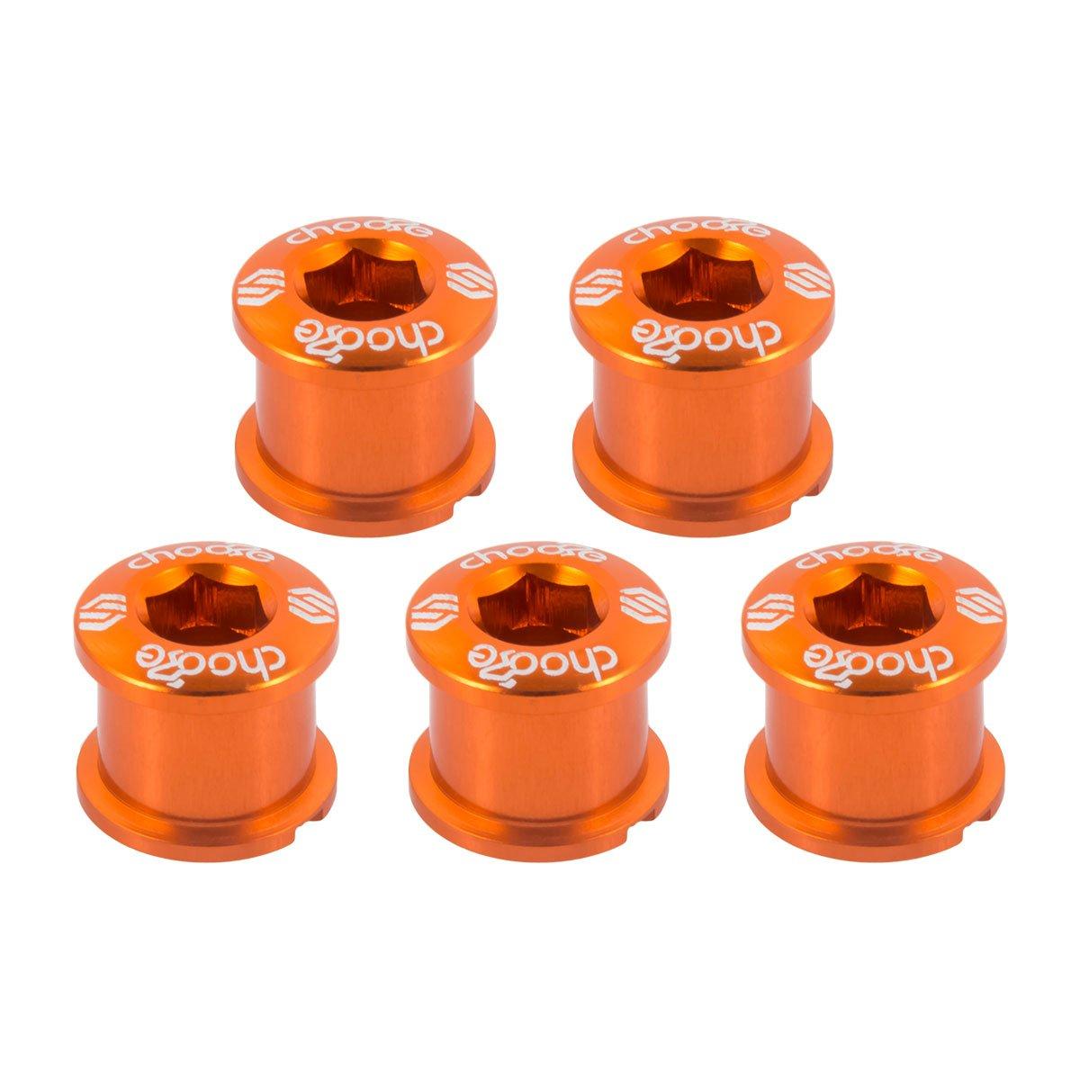 Choose 7075 - Tuercas y tornillos para plato de bicicleta, aleación, doble, 5 piezas, Orang: Amazon.es: Deportes y aire libre