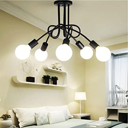 Amazon.com: LIBINA Ceiling Light Fixture, Edison 5 Heads ...