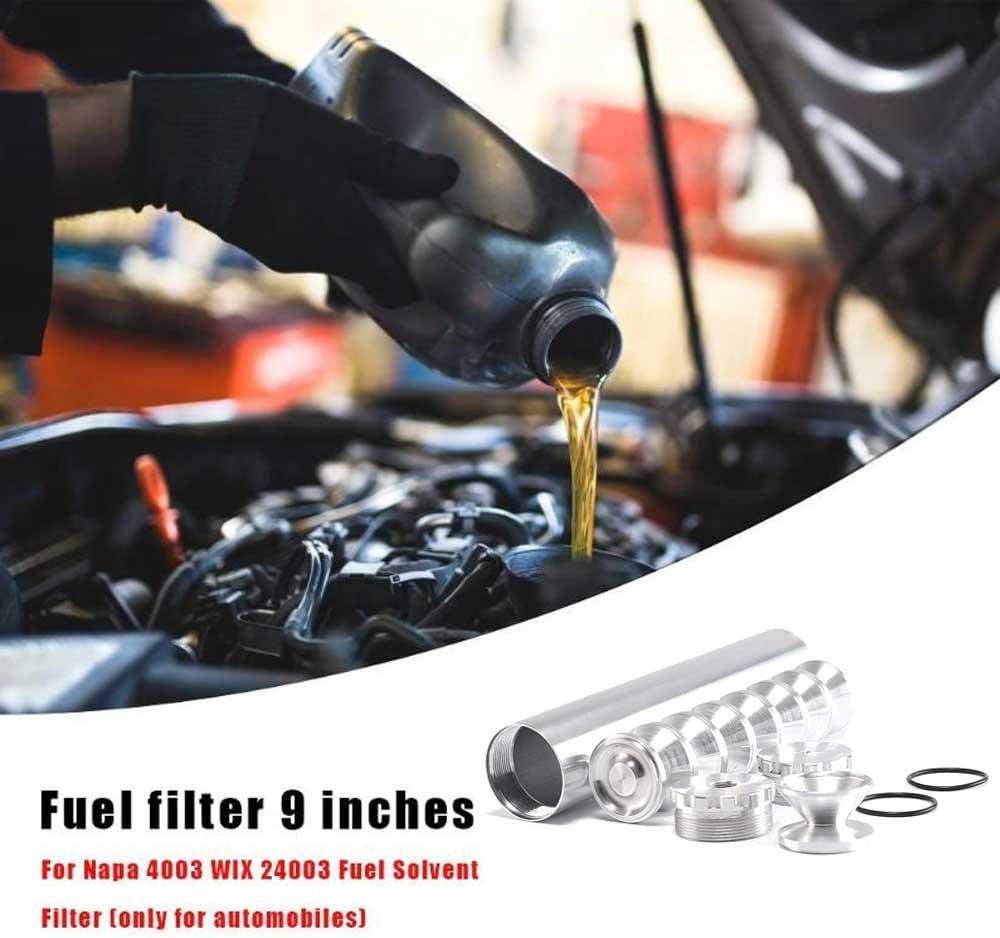 TEEPAO Aluminum 5//8-24 1//2-28 Car Fuel Filter Car Solvent Trap D Cell Storage Cup For NAPA 4003 WIX 24003 L9