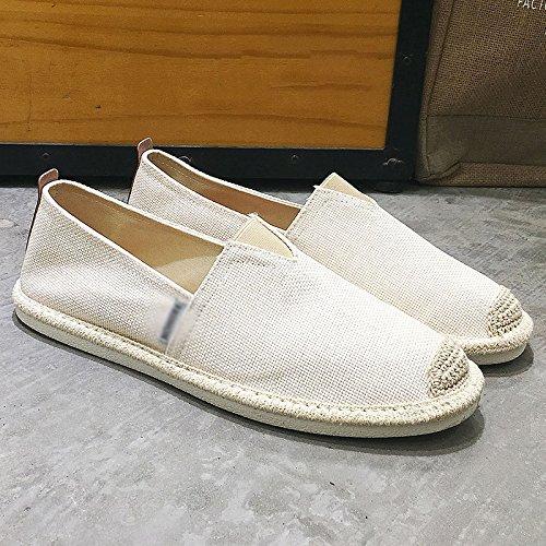 di un pedale uomo scarpe scarpe Estate uomo di da uomo Dpf2905white lino scarpe vecchio scarpe WFL Pechino tela da pigri da casual 6EOgqZZ