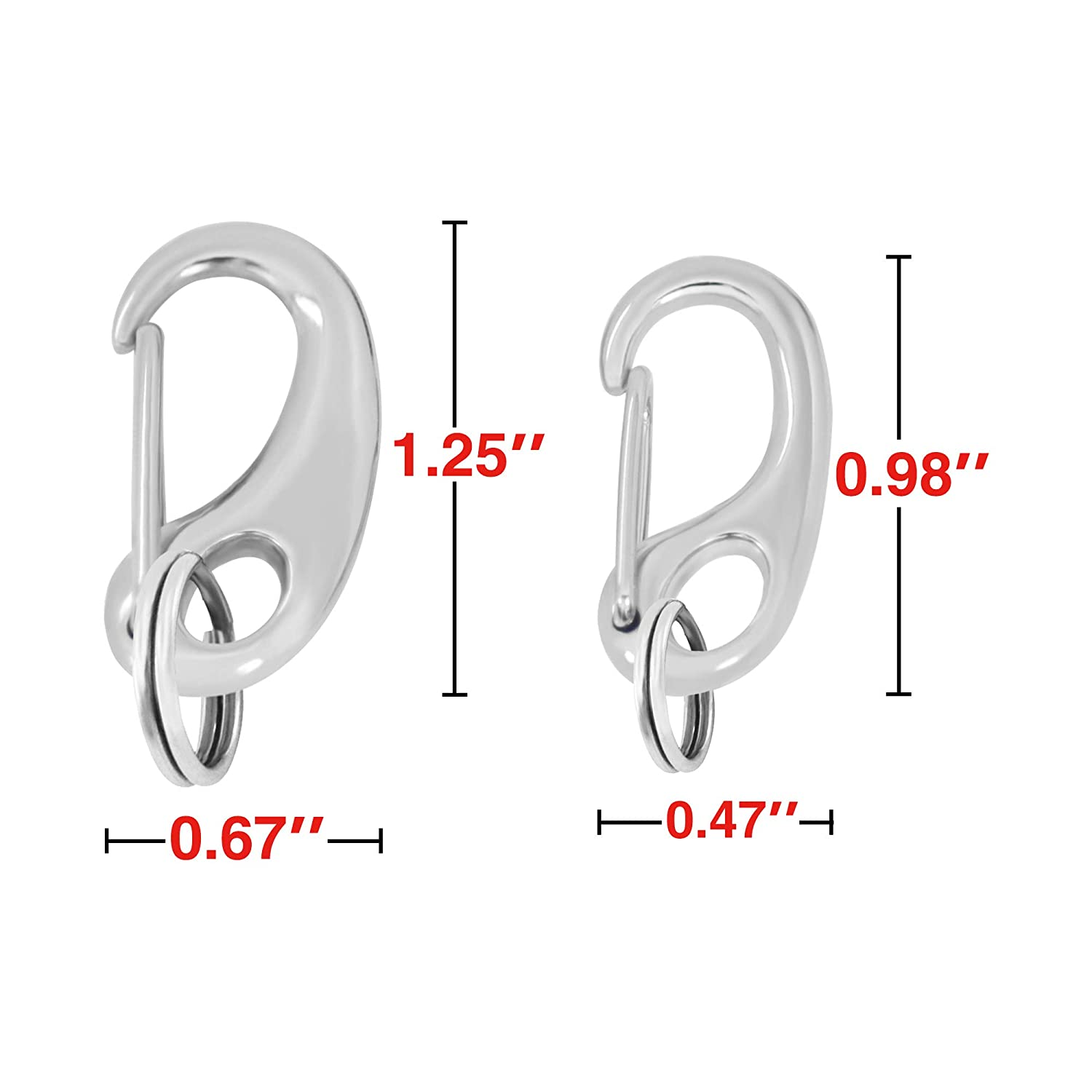 of Standard Quick Clips 2 pcs Divoti Dog Tag//Pet ID Tag w//Pet Tag Quick Clip Combos- 1 Pair Entirely sugrical Stainless Steel