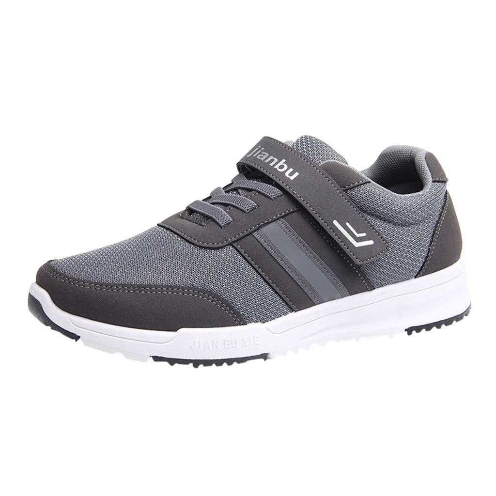 beautyjourney Zapatillas de Deporte al Aire Libre de los Hombres Zapatillas Deportivas de Malla Transpirable para Correr Zapatos Casuales Antideslizantes ...