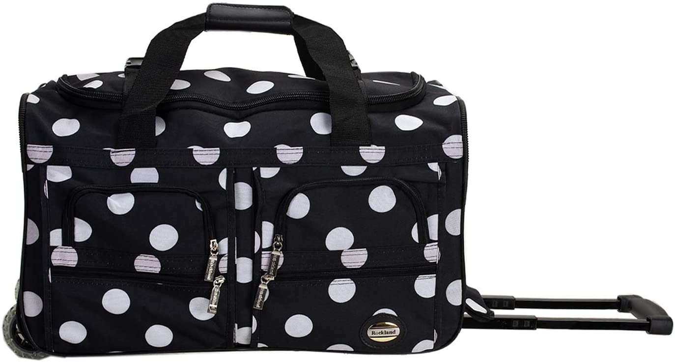 Rockland 22 Inch Rolling Duffle Bag MULBLUE DOT