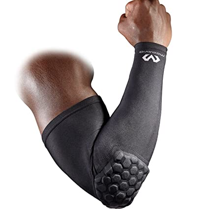 ecea14fd87 Mcdavid 6500 Hex Padded Arm Sleeve, Compression Arm Sleeve w/ Elbow Pad for  Football, Volleyball, Baseball Protection, Youth & Adult Sizes, Sold as  Single ...