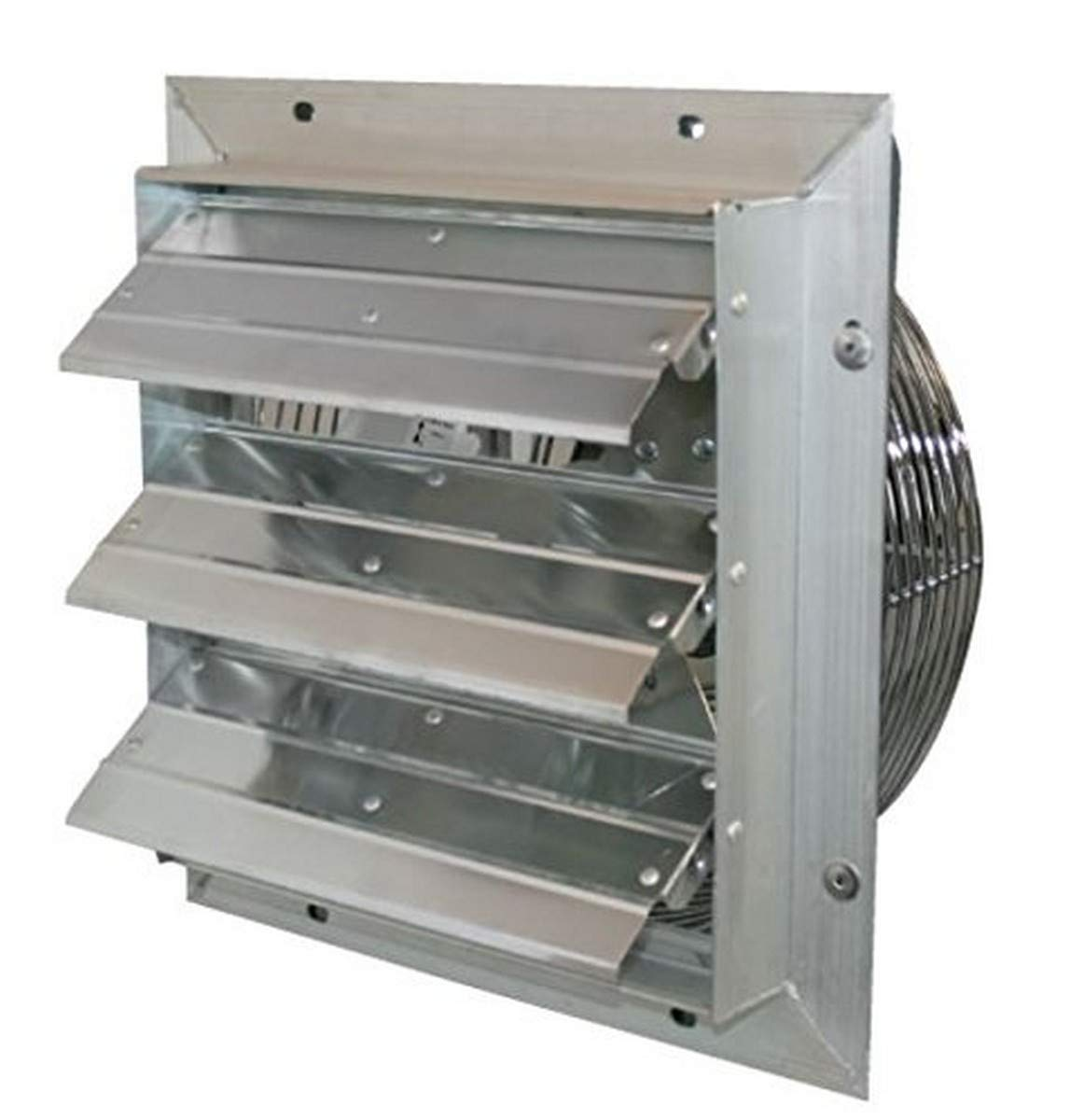 J D Manufacturing VES161C ES Aluminum Shutter Fan, 16 Size, 115V, 1 10 hp, 1 Phase, Variable Speed, 10 Cord