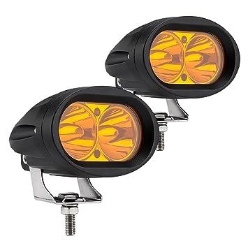 Led Lights For Motorcycle >> Amazon Com Weisiji Led Work Light 2pcs Amber Color Motorcycle Led