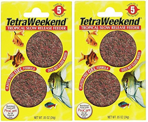 Tetra 77151 TetraWeekend Tropical Slow-Release 5-Day Feeder, 4 Count by Tetra