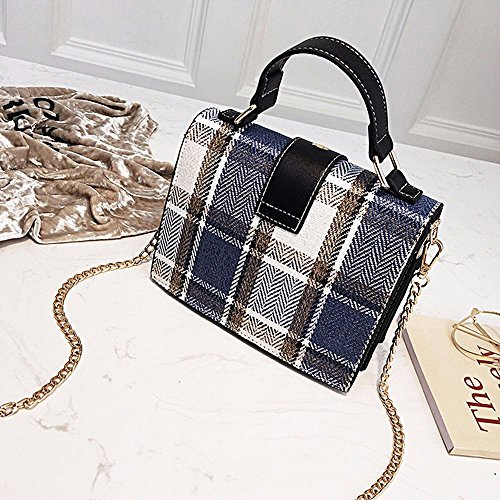 Tote Girls Brown Tartan Plaid Ya Small Shoulder Bag Jin Crossbody Classic For wvIRU1