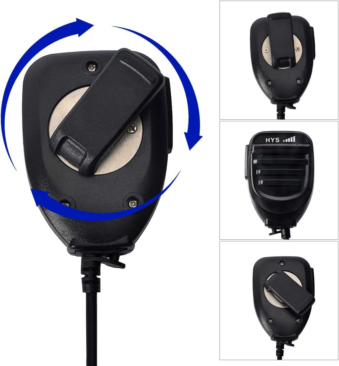 HYS Walkie Talkie Handheld Speaker Mic Shoulder Microphone for Baofeng UV3R BF-T1 BF-T6 2-Way Radio Walkie-Talkie