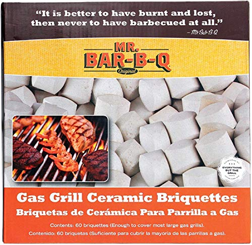Mr. Bar-B-Q 06000Y Ceramic Gas Grill Self Cleaning Briquettes, Replacement for Lava Rocks, Cleaner Cooking, Gas Grill…