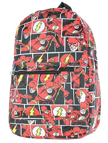 Flash Bag - DC Comics The Flash Comic Tiles Allover Print Sublimated School Travel Laptop Backpack