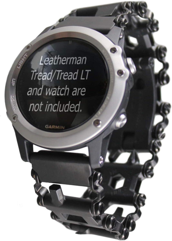BestTechTool Adaptador de Acero Inoxidable con Banda de Rodadura de Leatherman para Reloj