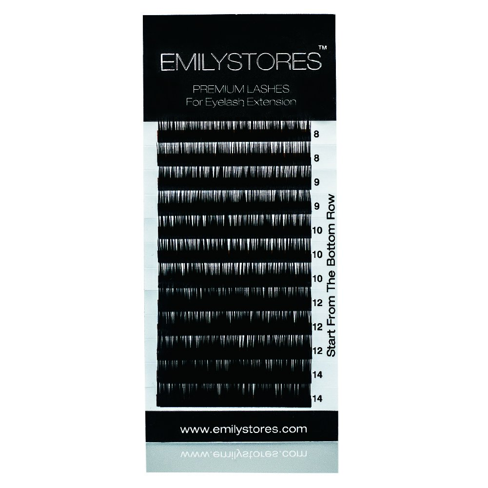 EMILYSTORES Eyelash Extensions Individual Loose Signature Mink Eyelash D Curl Thickness 0.07mm Length 8mm 9mm 10mm 12mm 14mm Silk Lashes Assort Mixed In One Tray