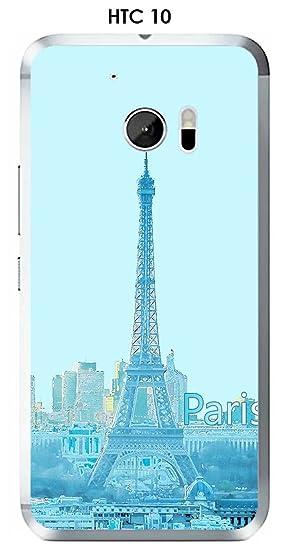 Onozo Carcasa HTC 10 Design Paris azul con nombre: Amazon.es ...