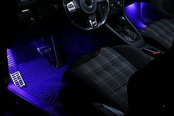 SMD LED de iluminación para los pies azul adecuado para Seat Ibiza 6L Leon 1P 1M blanco del xenón Can-bus C5W: Amazon.es: Coche y moto