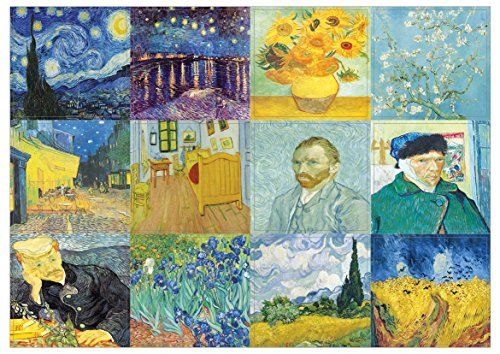 Loving Vincent Van Gogh Famous Paintings Decor Sticky Notes - 10 Sheets - Artistic Inspiring Wall Stickers for Men, Women, Teens. Great to Stick on Laptops, Walls, Table, Desk, and Any Surfaces